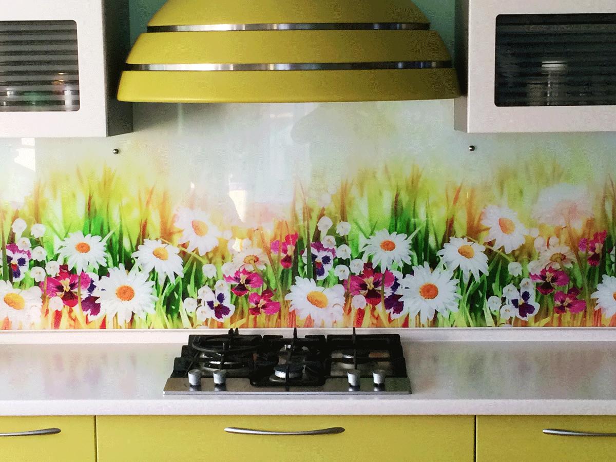 ОРИДЖИНАЛ МОДЕРН кухонный гарнитур с фартуком из каленого стекла с печатью