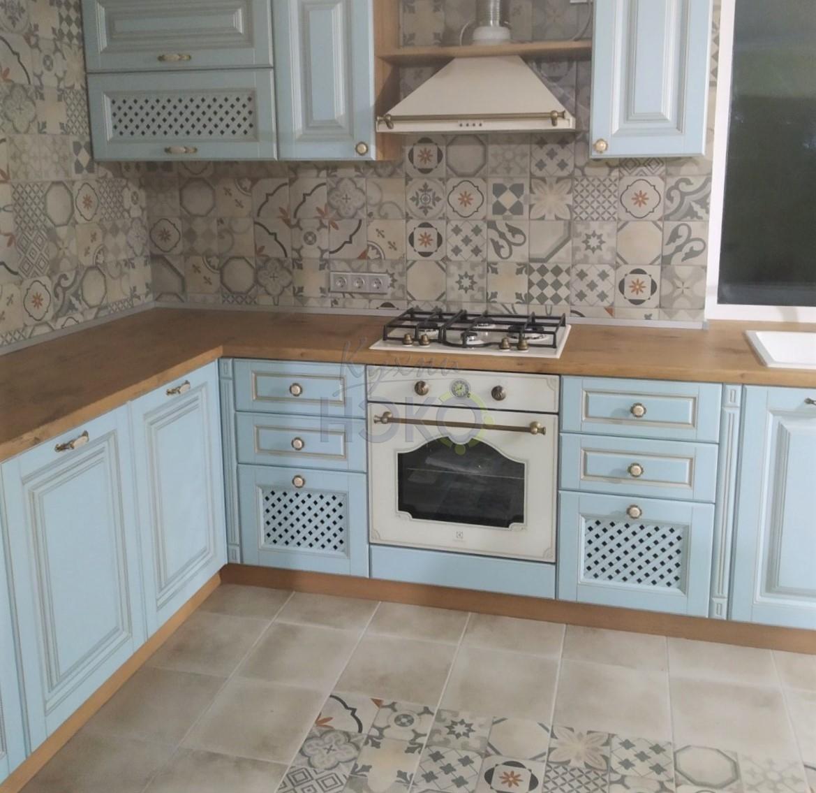 Кухня с фасадами МДФ с эмалью