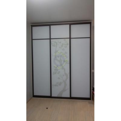 Шкаф-купе 3-х дверный, двери комбинированные