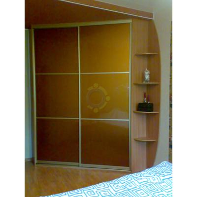 Шкаф-купе 2-дверный, двери комбинированные