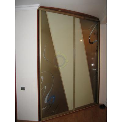 Шкаф-купе 2-х дверный, комбинированные двери