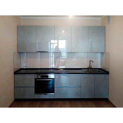 Кухня на заказ - блеск и серебро