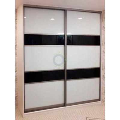 Шкаф-купе 2-х дверный с комбинированными створками